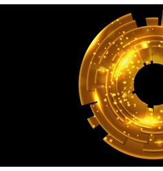 Abstract gold background with black copy space vector image