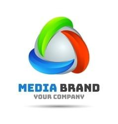 Abstract logo Creative colorful design vector