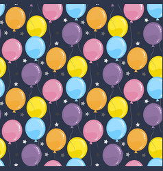 air balloons seamless pattern party vector image
