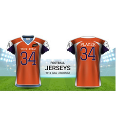 american football or soccer jerseys uniforms vector image
