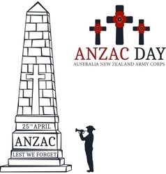 Anzac day greeting card vector