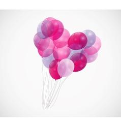 Balloon Heart Background vector