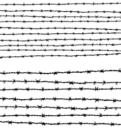 Barbed wire horizontally vector image