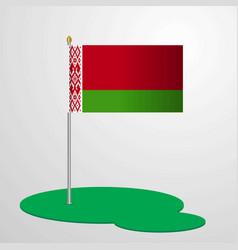 belarus flag pole vector image