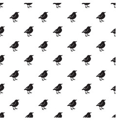birds background pattern vector image