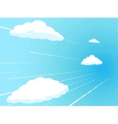 Blue sky comic book style vector