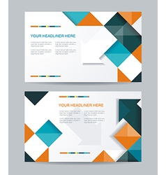 Brochure or banners or business card design vector
