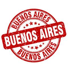 Buenos aires red grunge round vintage rubber stamp vector