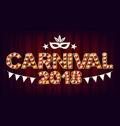 carnival background carnival shining light vector image