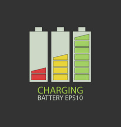 Collection charging battery vector