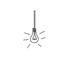continuous line light bulb idea concept vector image