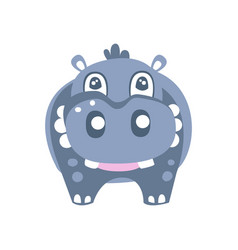 cute cartoon hippo character posing vector image