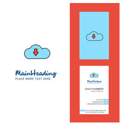 downloading creative logo and business card vector image