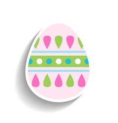 easter egg colored flat icon for holiday isolated vector image