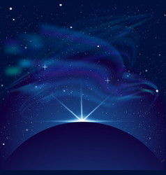 eclipse planet in space in vector image vector image