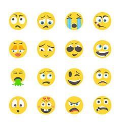 Feelings emojis icons vector