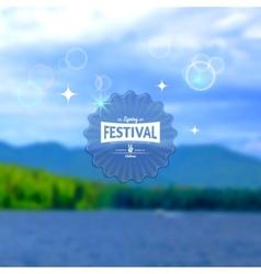 Festival summer realistic badge EPS10 vector