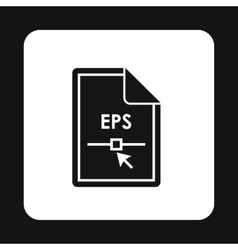 File EPS icon simple style vector