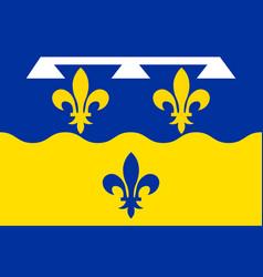Flag of loir-et-cher in centre-val de loire france vector