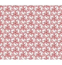 Floral Fine Seamless Red Pattern vector