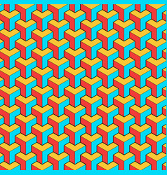 geometric pattern with stripes vector image