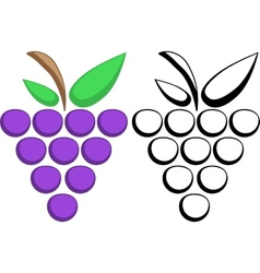 Grapes symbols vector
