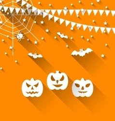 Halloween Paper Background vector image