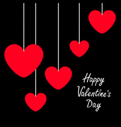 happy valentines day sign symbol red heart icon vector image
