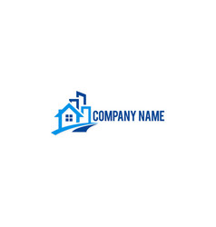 house building company logo vector image
