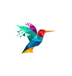 Hummingbird logo design template vector