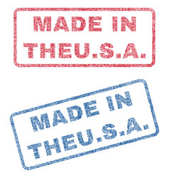 Made in theusa textile stamps vector