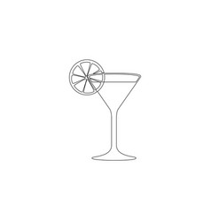 martini glass flat icon vector image