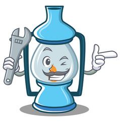 Mechanic lantern character cartoon style vector