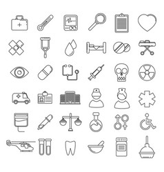 medical icons set line vector image