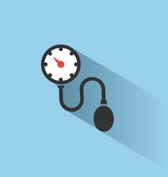 Medical tonometer icon on blue background white vector