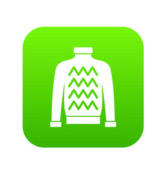 men sweater icon digital green vector image