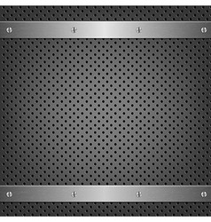 Metal Background With Aluminum Plate vector