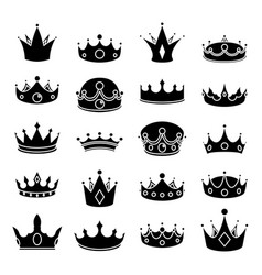monarch medieval royal crown queen king lord vector image