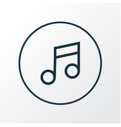 music icon line symbol premium quality isolated vector image