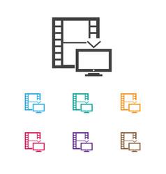 of cinema symbol on telly icon vector image