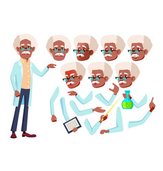 old man senior person black afro vector image