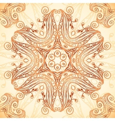 Ornate vintage template in Indian mehndi style vector image