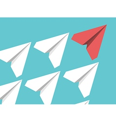 Paper planes leadership concept vector image