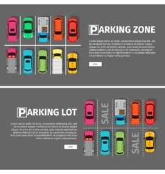 Parking Lon and Zone Top View vector image
