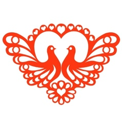 Pattern with doves vector