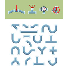 pipe shapes oil water steel and plastic cylinder vector image