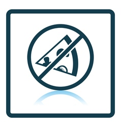 Prohibited pizza icon vector image