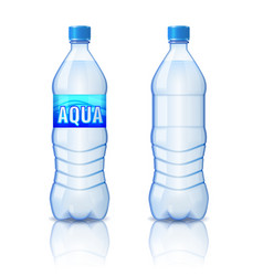 realistic plastic bottle with mineral water vector image