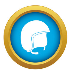 Safety helmet icon blue isolated vector