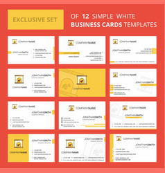 set of 12 chimney creative busienss card template vector image
